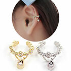 Punk womens Crystal Ear Cuff Wrap Cartilage Clip Earring Non Piercing charm gift