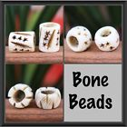 2 x Bone Dreadlock Beads Various sizes and styles 8mm - 10mm NEW