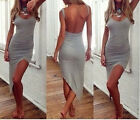 Womens Asymmetrical Summer Casual Sleeveless Party Cocktail Short Mini Dress