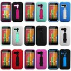 Hybrid Rugged Shockproof Impact Hard Case Cover for MOTOROLA Moto G  (1st Gen)