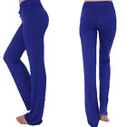 Gym Women's Booty Flare Yoga Running Dance Fitness Long Pants Trouser S-XL