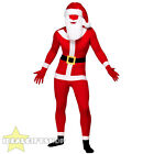 SANTA SKIN SUIT WITH WIG AND BEARD CHRISTMAS FESTIVE ONESIE FANCY DRESS COSTUME