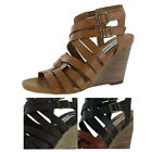 Steve Madden Venis Women's Wedge Sandals Shoes Strappy