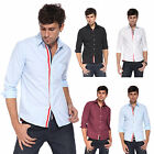 Fashion Mens Casual Slim Fit Dress Shirt Long Sleeve Luxury Shirt Polo Top Tee