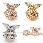 1x Angel Wing Chime Sounds Cage Harmony Ball Pendant Bead Fit Necklace DIY