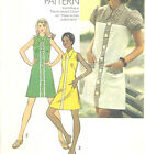 Vintage 70s Misses Short Dress Sewing Pattern Front Yoke High Round Neck 6084