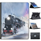 Steam Trains Folio Cover Leather Case For Apple iPad