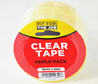 "Quality Clear Tape ""Sellotape"" 18mm x 50m Triple Pack Fit For The Job"