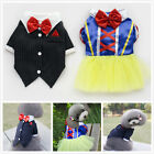New Cute Dog Pet Apparel British Set Prince Tuxedo T-shirt Dogs Cat Pet Clothes