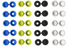 AUTOMOTIVE NUMBER PLATE SCREW SNAP COVER CAP COVERS CAPS WHITE YELLOW BLACK BLUE