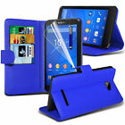 PU Leather Flip Wallet Book Case Cover, LCD Film & Pen  For Sony Xperia E4