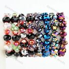 """Multicolor Crystal Glass Faceted Beads Ball Knitted Stretchy Elastic Bracelet 7"""""""