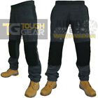 Mens Knee Pad Pockets Elasticated Fleece Work Jogging Bottoms Joggers Sweatpants