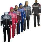 MENS WOMENS ONESIE HOODED UNISEX ZIP PLAYSUIT SIZE S-4XL  ALL IN ONE JUMPSUIT UK