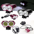 Solarstorm U2 XML 2 CREE LED 5000LM Bicycle Bike Front Light Headlamp+UK Charger