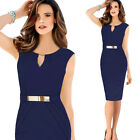 Fashion Sleeveless Sexy Office LADY Cocktail Party Bodycon Pencil PROM Dresses