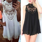 Sexy Women's Lace Chiffon Dress Party Evening Dress Summer Beach Mini Dress