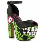 IRON FIST ZOMBIE STOMPER WOMEN MONSTER GREEN SUPER PLATFORM US SIZES