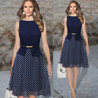 Women's Summer Vintage Style Casual Party Evening Shift Swing Prom Short Dresses