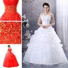 New white/red Wedding Dress Bridal Gown Custom
