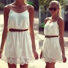 Sexy Women Summer Casual Lace Sleeveless Party Evening Cocktail Short Mini Dress