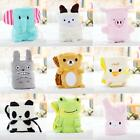 New Cute Cartoon Animal Air-condition Blanket Collapsible Plush Blanket Gift