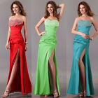 UK FAST Long Evening Formal Bridesmaid Ball Gown Homceoming Cocktail Prom Dress