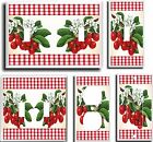 CHERRIES RED GINGHAM PLAID  LIGHT SWITCH COVER PLATE # 1  U PICK PLATE SIZE