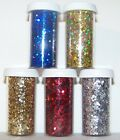 "Fine Glitter .041"" 1/24"" 1.1mm Metallic Holographic ~ Small Jar (2 tsp)"