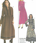 Misses Pullover Dress Sewing Pattern Raised Waist Gathers Long Sleeve Vary 4142