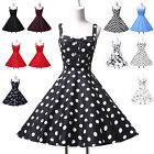Fashion Red Polka Dot Vintage Style 50s Pinup PLUS SIZE Swing Dress