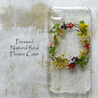 ZHQ Pressed Real Dry Flower Wreath Bling Hard Skin Case Cover For Samsung iPhone