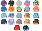 Long Sleeve Tie Dye T-Shirts Kids Youth XS S M L Cotton Multi-Color Hanes/Gildan