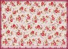 Chanteclaire ROSE REFLECTION PINK ROSES Floral Cotton Quilting Fabric 2-3 yds