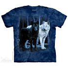 THE MOUNTAIN BLACK & WHITE WOLVES PACK ANIMALS NATURE FIERCE T TEE SHIRT S-5XL