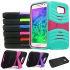 Phone Case For Samsung Galaxy S6 4G LTE Armor Heavy Duty Rugged Cover Stand G920