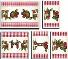 STRAWBERRY LIGHT SWITCH COVER PLATE K1    U PICK PLATE SIZE