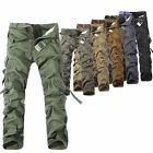 Hot Mens Casual Military Army Cargo Camo Combat Work Pants Trousers Size 30-38