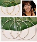 10Pcs GOLD/SILVER Plated Beading Hoop Earrings Size - Choose 35MM 40MM 50MM 60MM