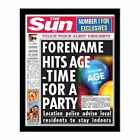 Personalised The Sun Birthday Newspaper with Photo Gift Idea 21st 18th 40th 60th