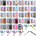 For Samsung Galaxy S6 Dual Layer Hard Silicone TUFF Hybrid Phone Case+Pen+Film