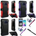 For Samsung Galaxy S6 Edge Heavy Duty Armor Case w/ Clip Holster Stand+Film+Pen