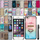 For Apple iPhone 6 6s 4.7 inch SLIM FIT PATTERN HARD Case Back Phone Cover + Pen