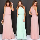 CHEAP Long Formal Evening Ball Gown Party Prom Bridesmaid Dress Pink/Light Green