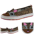 Tigerbear Republik Sneaky Beast Women's Slip On Sneakers Shoes Cheetah