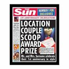 Personalised The Sun 1st Wedding Anniversary Photo Newspaper Present Gift Idea