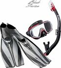 TUSA Pro Quality Deluxe Divers Snorkel Set - Stylish Quality MASK FINS SNORKEL