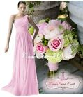 BNWT PAIGE Baby Pink One Shoulder Chiffon Long Maxi Bridesmaid Dress UK 6 -16