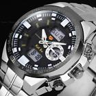 Mens Digital LED Date Over Sized Dial Stopwatch Sport Alarm Quartz Wrist Watch