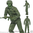 CL419 Mens Toy Soldier Green Army Military Uniform Fancy Dress Up Costume Outfit